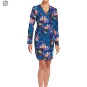 Amanda Uprichard silk shift lace up dress